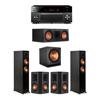 Klipsch 5.1 Ebony System - 2 RP-5000F,1 RP-600C,2 RP-502S,1 SPL-150,1 RX-A3080