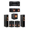 Klipsch 5.1 Ebony System - 2 RP-5000F,1 RP-600C,2 RP-502S,1 SPL-150,1 RZ-840 Receiver