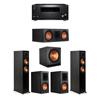 Klipsch 5.1 Ebony System - 2 RP-5000F,1 RP-600C,2 RP-600M,1 SPL-150,1 RZ-840 Receiver