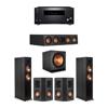 Klipsch 5.1 Ebony System - 2 RP-6000F,1 RP-404C,2 RP-402S,1 SPL-150,1 RZ-840 Receiver
