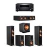 Klipsch 5.1 Ebony System - 2 RP-6000F,1 RP-404C,2 RP-500M,1 SPL-150,1 RZ-840 Receiver
