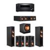 Klipsch 5.1 Ebony System - 2 RP-6000F,1 RP-404C,2 RP-502S,1 SPL-150,1 RZ-840 Receiver
