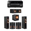 Klipsch 5.1 Ebony System - 2 RP-6000F,1 RP-500C,2 RP-402S,1 SPL-150,1 RX-A1080