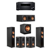 Klipsch 5.1 Ebony System - 2 RP-6000F,1 RP-500C,2 RP-402S,1 SPL-150,1 RZ-840 Receiver