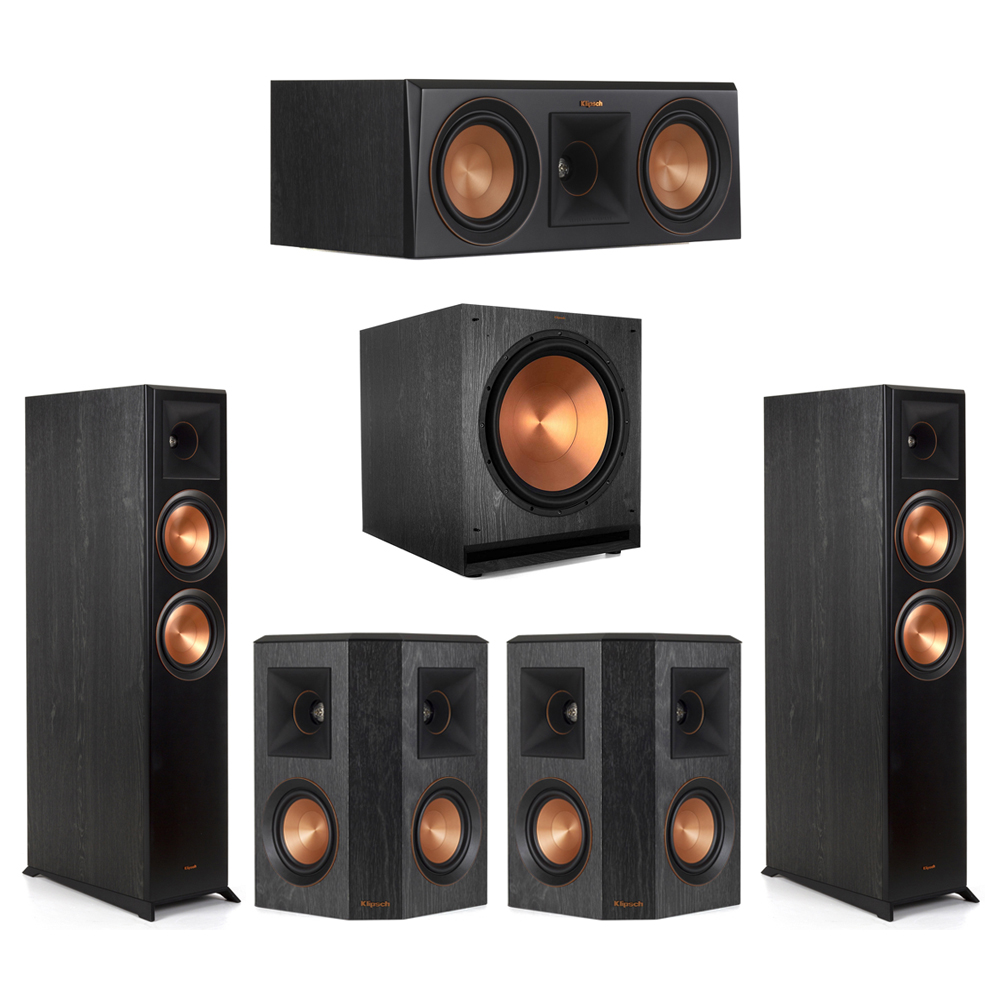Klipsch-5.1 Ebony Home Theater System - 2 RP-6000F, 1 RP-500C, 2 RP-402S, 1 SPL-150 Subwoofer