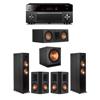 Klipsch 5.1 Ebony System - 2 RP-6000F,1 RP-500C,2 RP-502S,1 SPL-150,1 RX-A3080