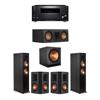 Klipsch 5.1 Ebony System - 2 RP-6000F,1 RP-500C,2 RP-502S,1 SPL-150,1 RZ-840 Receiver