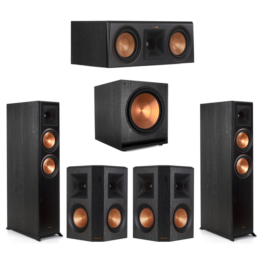 Klipsch-5.1 Ebony Home Theater System - 2 RP-6000F, 1 RP-500C, 2 RP-502S, 1 SPL-150 Subwoofer