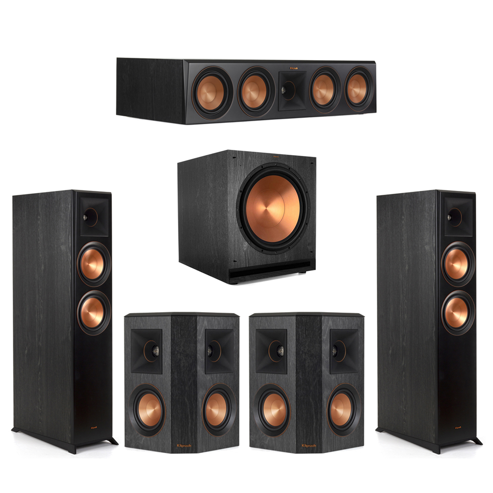 Klipsch-5.1 Ebony Home Theater System - 2 RP-6000F, 1 RP-504C, 2 RP-402S, 1 SPL-150 Subwoofer