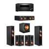 Klipsch 5.1 Ebony System - 2 RP-6000F,1 RP-504C,2 RP-502S,1 SPL-150,1 RZ-840 Receiver