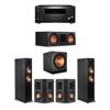 Klipsch 5.1 Ebony System - 2 RP-6000F,1 RP-600C,2 RP-402S,1 SPL-150,1 RZ-840 Receiver