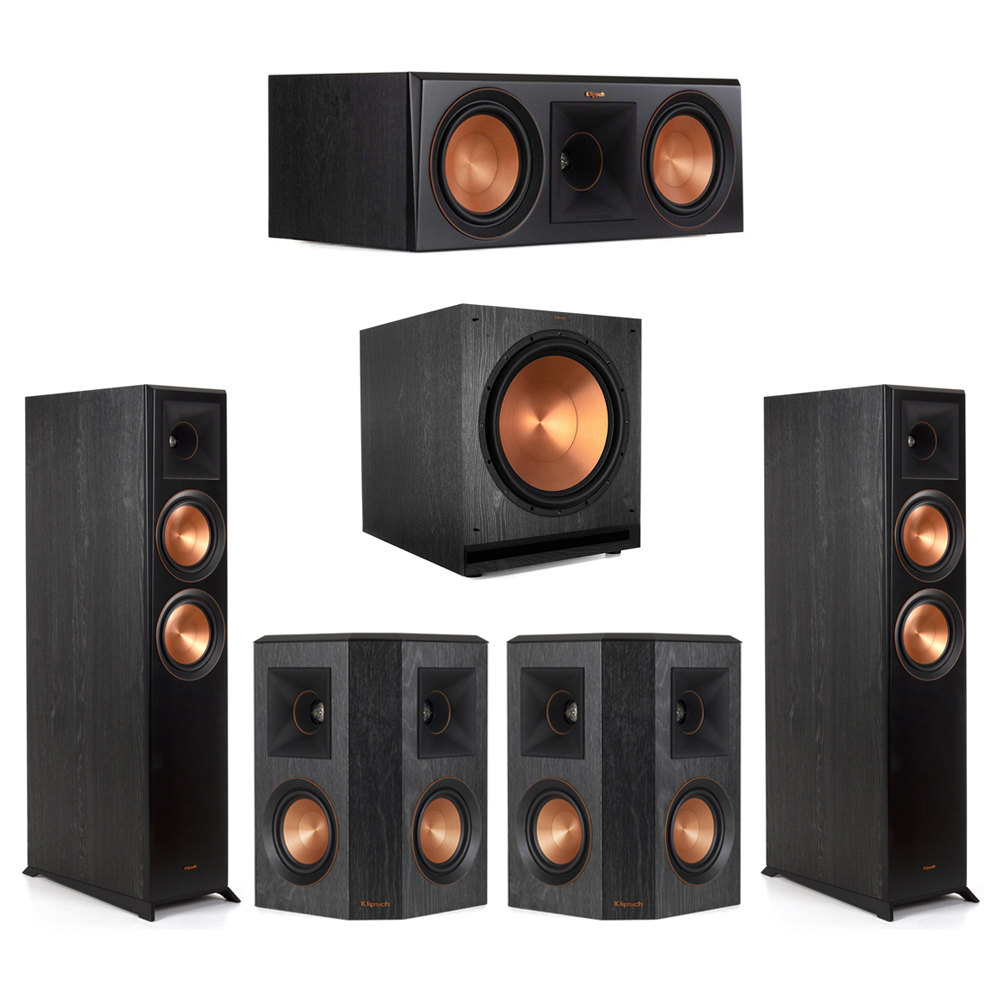 Klipsch-5.1 Ebony Home Theater System - 2 RP-6000F, 1 RP-600C, 2 RP-402S, 1 SPL-150 Subwoofer
