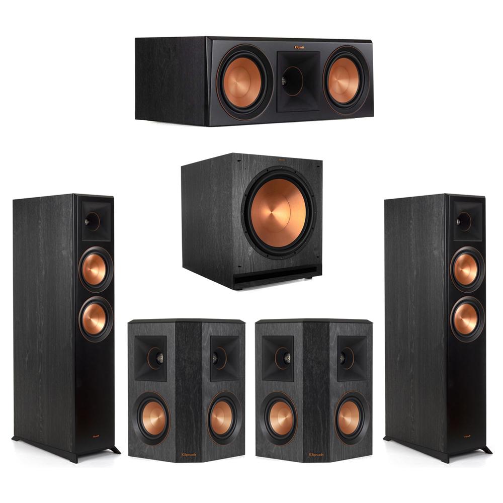 Klipsch-5.1 Ebony Home Theater System - 2 RP-6000F, 1 RP-600C, 2 RP-402S, 1 SPL-150 Subwoofer