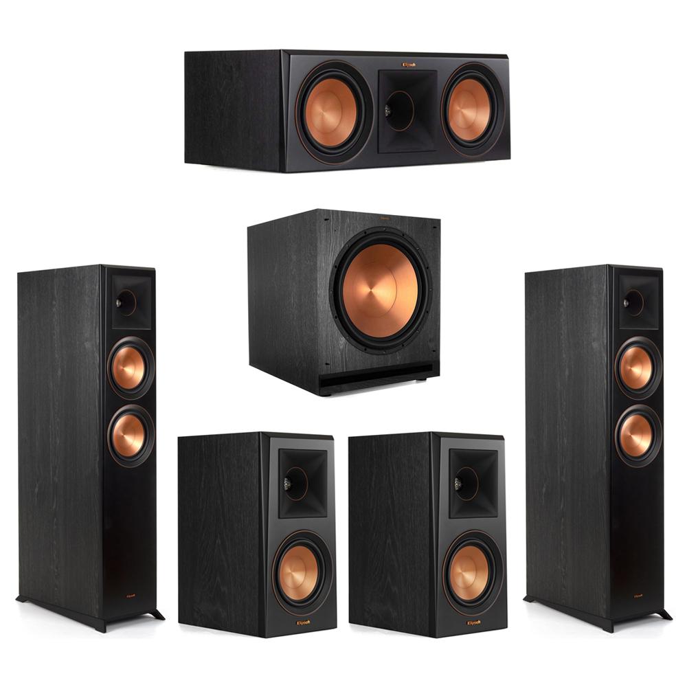 Klipsch-5.1 Ebony Home Theater System - 2 RP-6000F, 1 RP-600C, 2 RP-500M, 1 SPL-150 Subwoofer