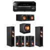 Klipsch 5.1 Ebony System - 2 RP-6000F,1 RP-600C,2 RP-502S,1 SPL-150,1 RX-A1080