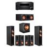 Klipsch 5.1 Ebony System - 2 RP-6000F,1 RP-600C,2 RP-502S,1 SPL-150,1 RZ-840 Receiver