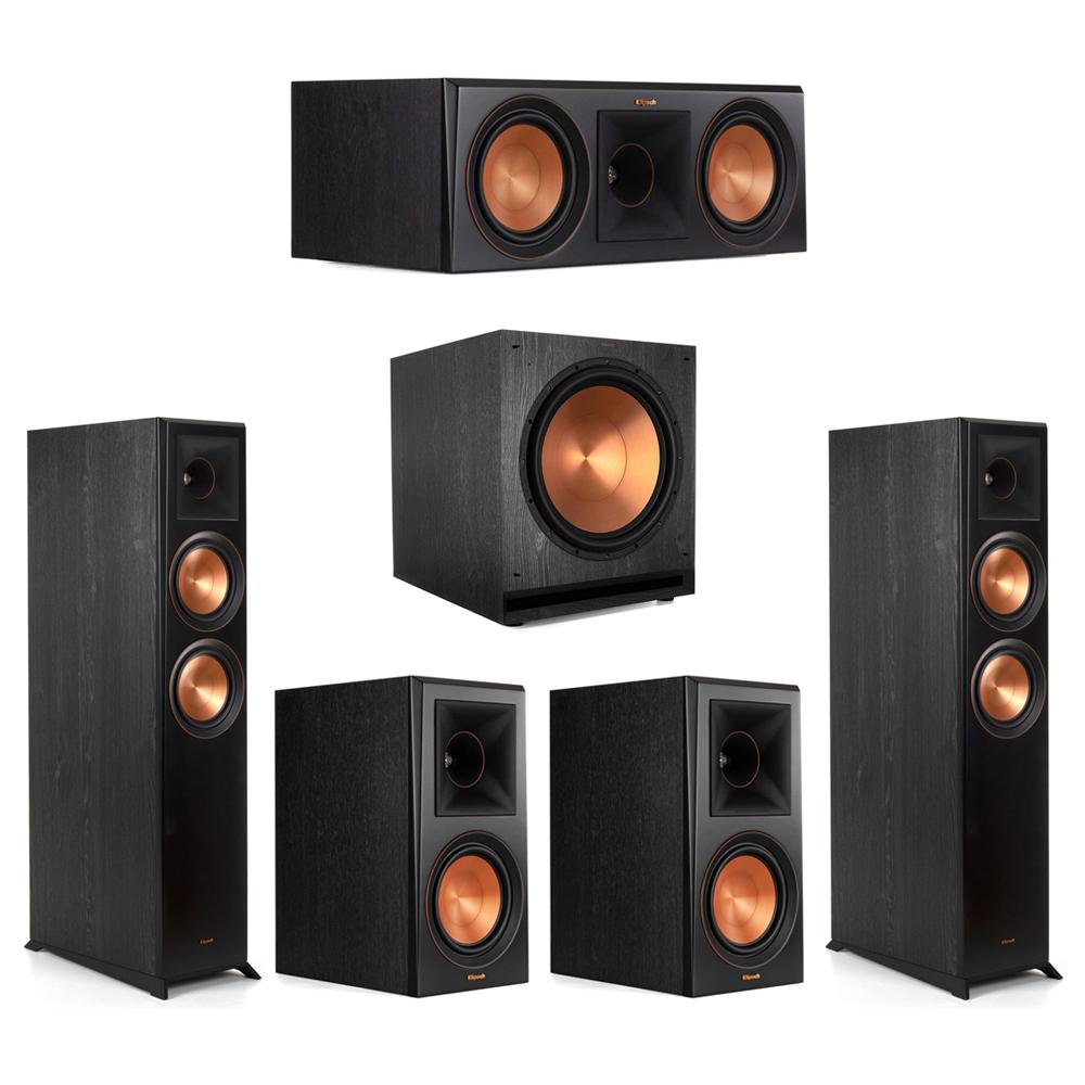 Klipsch-5.1 Ebony Home Theater System - 2 RP-6000F, 1 RP-600C, 2 RP-600M, 1 SPL-150 Subwoofer