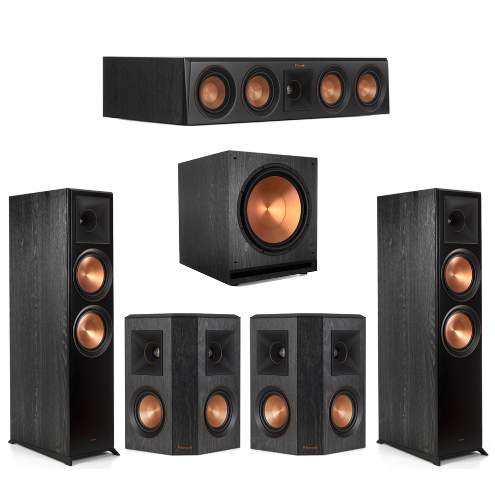 Klipsch-5.1 Ebony Home Theater System - 2 RP-8000F, 1 RP-404C, 2 RP-402S, 1 SPL-150 Subwoofer
