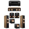 Klipsch 5.2 Cherry System with 2 RF-7III Floorstanding Speakers, 1 RC-64III Center Speaker, 2 Klipsch RP-250S Surround Speakers, 2 Klipsch R-112SW Subwoofers, 1 Denon AVR-X8500H Receiver