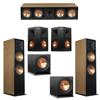 Klipsch 5.2 Cherry System with 2 RF-7III Floorstanding Speakers, 1 RC-64III Center Speaker, 2 Klipsch RP-250S Surround Speakers, 2 Klipsch R-112SW Subwoofers