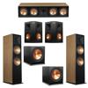 Klipsch 5.2 Cherry System with 2 RF-7III Floorstanding Speakers, 1 RC-64III Center Speaker, 2 Klipsch RP-250S Surround Speakers, 2 Klipsch R-115SW Subwoofers