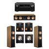 Klipsch 5.2 Cherry System with 2 RF-7III Floorstanding Speakers, 1 RC-64III Center Speaker, 2 Klipsch RP-250S Surround Speakers, 2 Klipsch PL-200II Subwoofers, 1 Denon AVR-X8500H Receiver