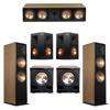 Klipsch 5.2 Cherry System with 2 RF-7III Floorstanding Speakers, 1 RC-64III Center Speaker, 2 Klipsch RP-250S Surround Speakers, 2 Klipsch PL-200II Subwoofers