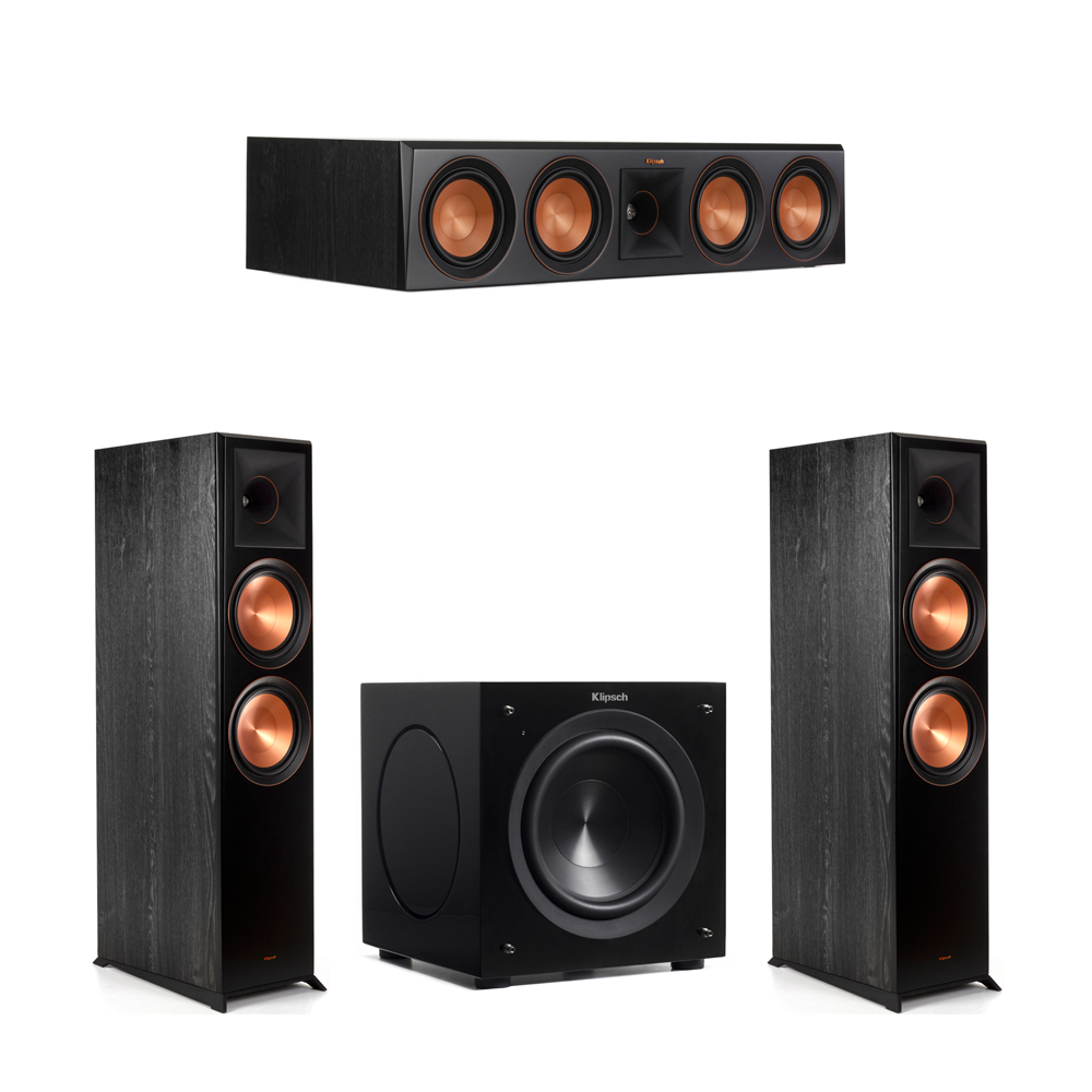 Klipsch 3.1 Piano Black System with-2 RP-8000F -1 RP-504C-1 C-308ASWi Subwoofer