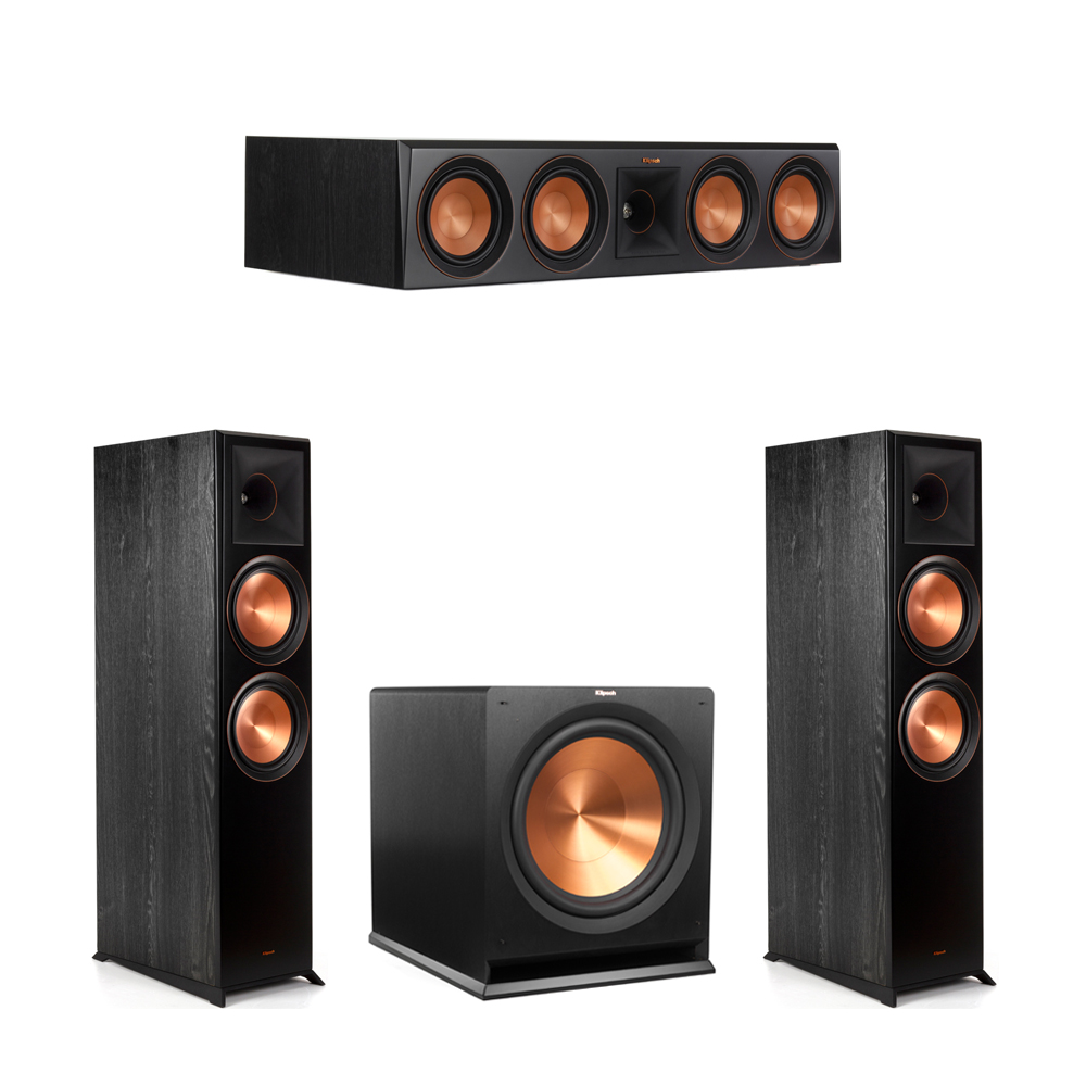 Klipsch 3.1 Piano Black System with-2 RP-8000F -1 RP-504C-1 R-115SW Subwoofer