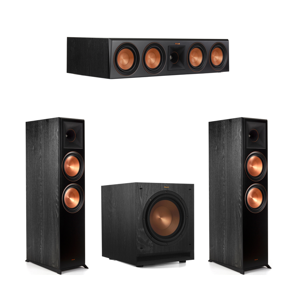 Klipsch 3.1 Piano Black System with-2 RP-8000F 1 RP-504C-1 SPL-100 Subwoofer