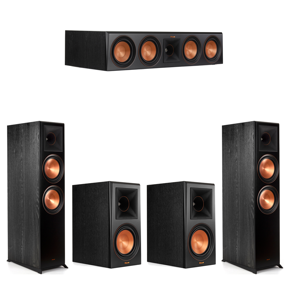 Klipsch 5.0 Piano Black System with-2 RP-8000F -1 RP-504C-2 RP-600M