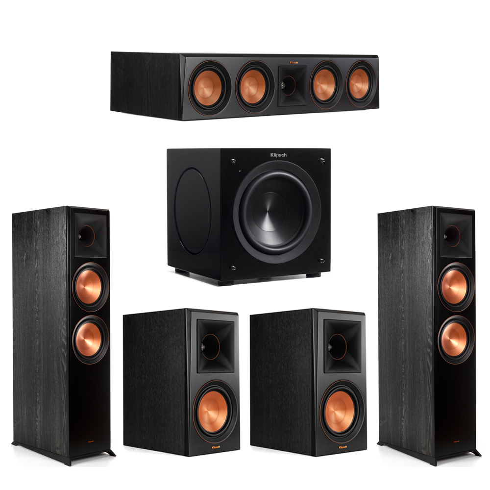 Klipsch 5.1 Piano Black System with-2 RP-8000F -1 RP-504C-2 RP-600M -1 C-308ASWi Subwoofer