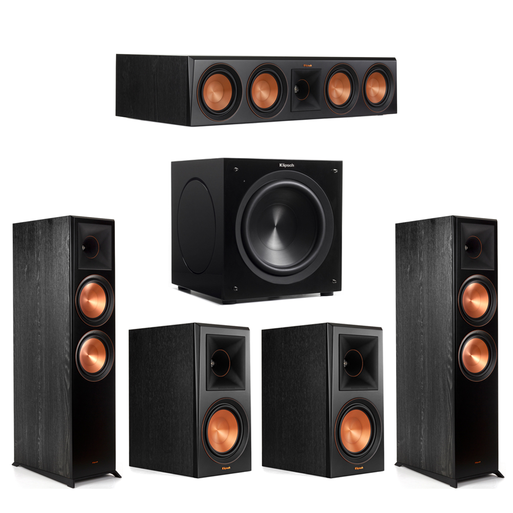 Klipsch 5.1 Piano Black System with-2 RP-8000F -1 RP-504C-2 RP-600M -1 C-310ASWi Subwoofer