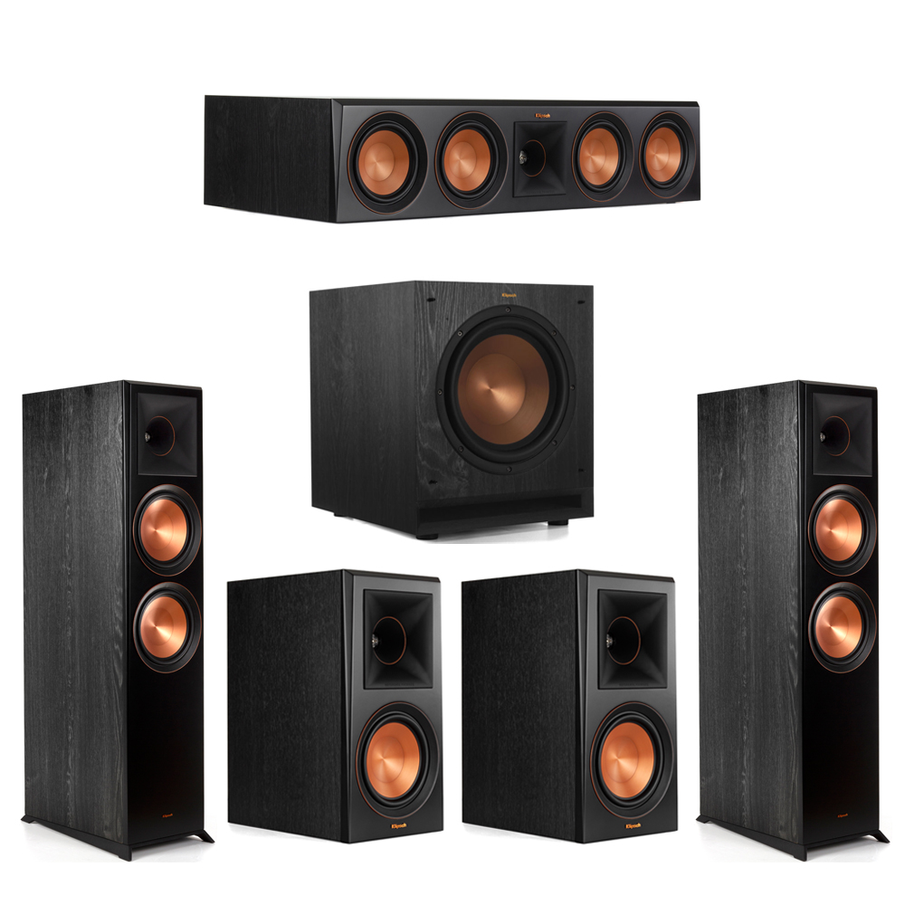 Klipsch 5.1 Piano Black System with-2 RP-8000F -1 RP-504C-2 RP-600M -1 SPL-100 Subwoofer