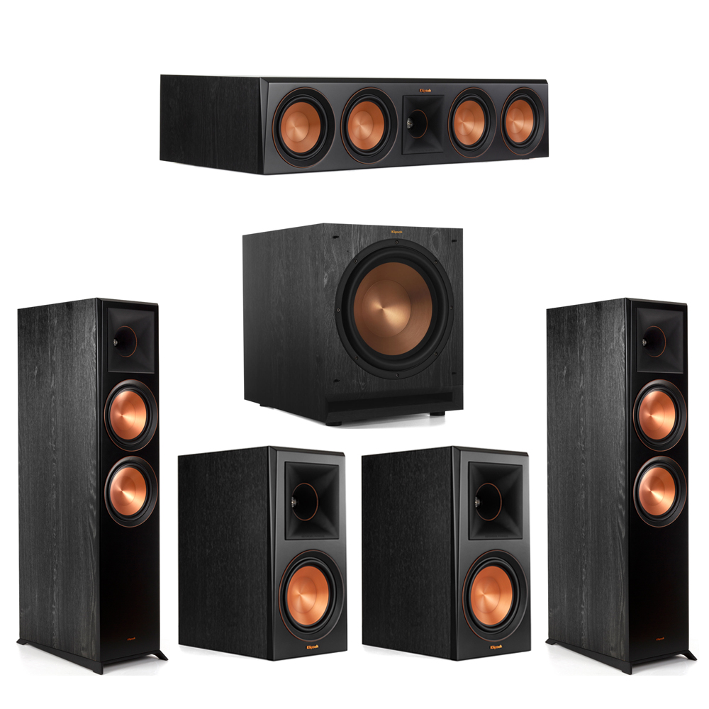 Klipsch 5.1 Piano Black System with-2 RP-8000F -1 RP-504C-2 RP-600M -1 SPL-120 Subwoofer