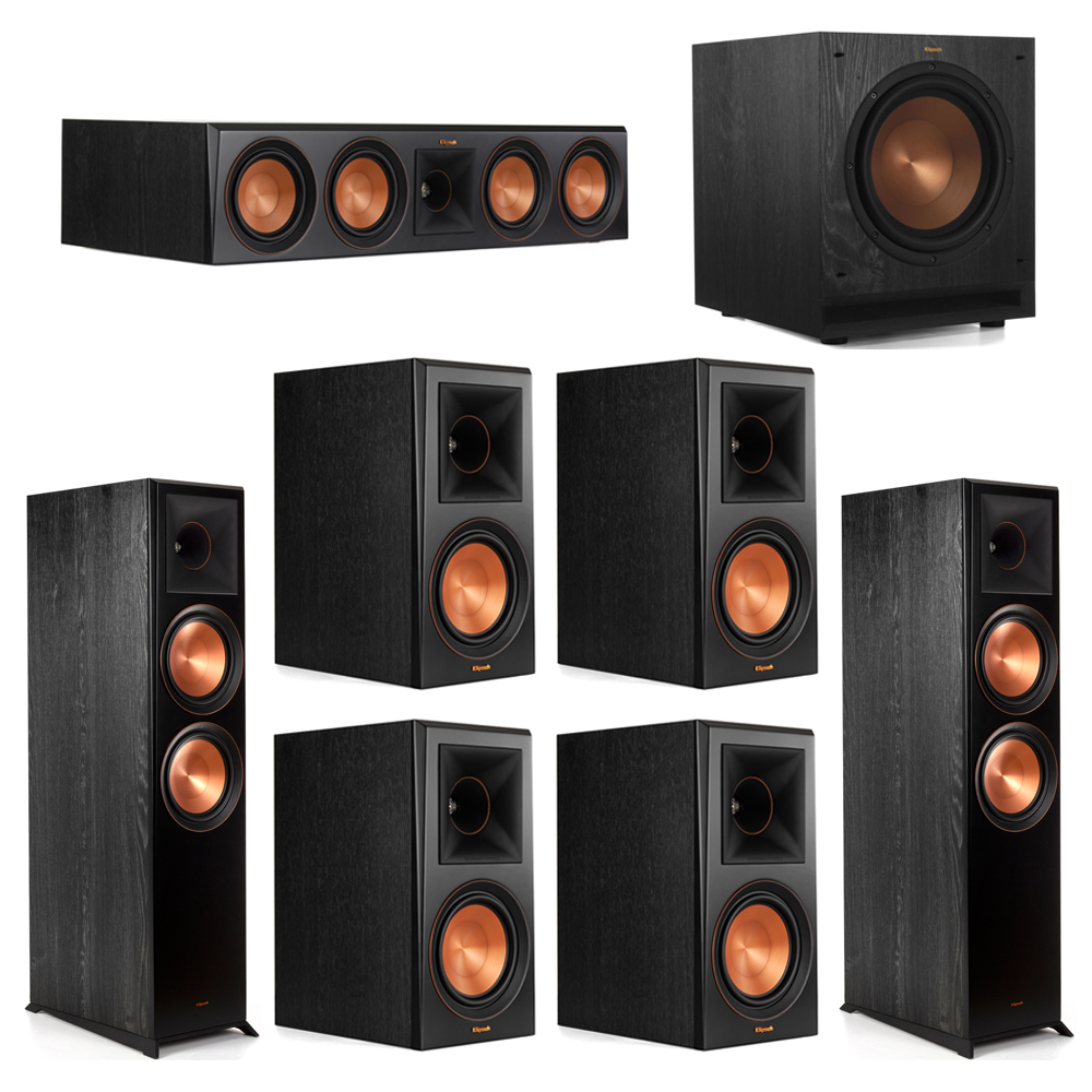 Klipsch 7.1 Piano Black System with-2 RP-8000F -1 RP-504C-4 RP-600M -1 SPL-100 Subwoofer