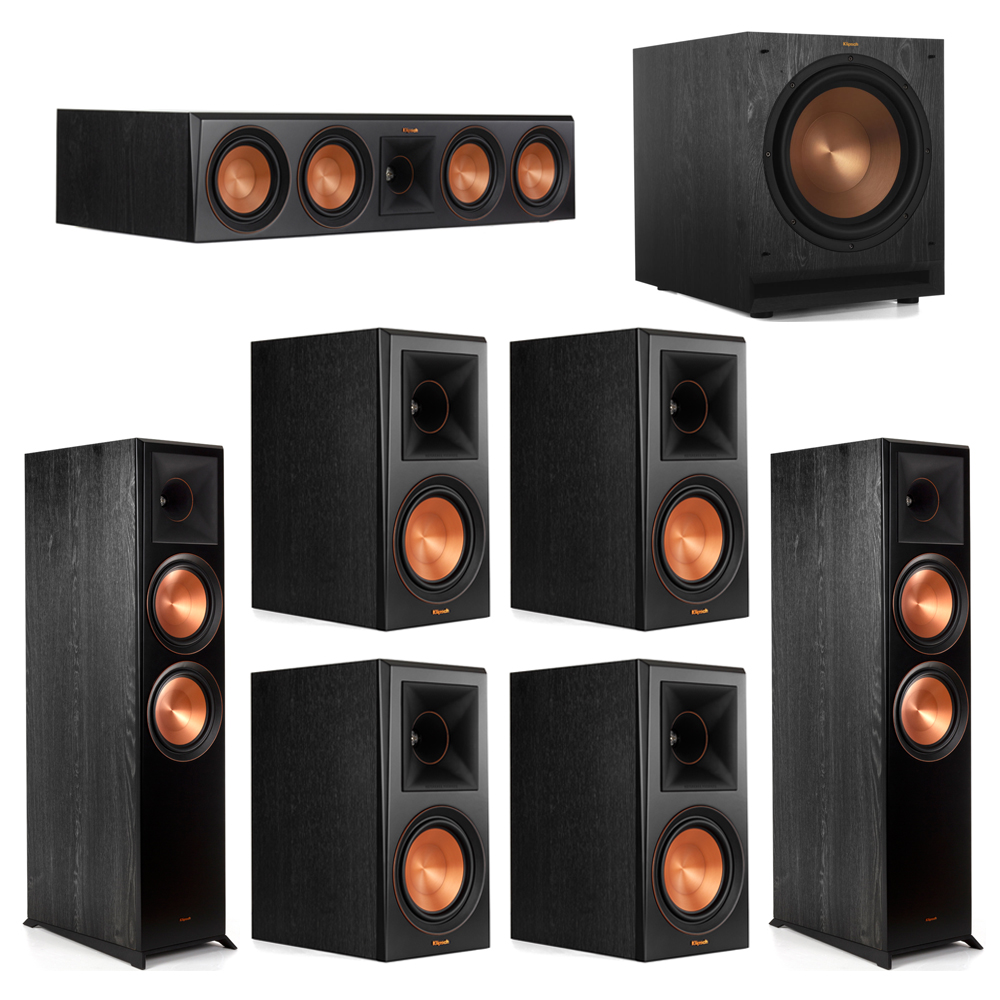 Klipsch 7.1 Piano Black System with-2 RP-8000F -1 RP-504C-4 RP-600M -1 SPL-120 Subwoofer