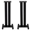 Elac LS20 Black Bookshelf Speaker Stands - Pair