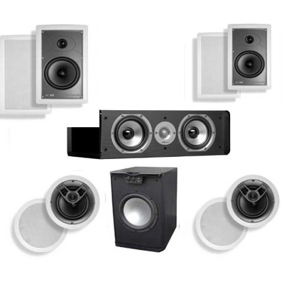 Polk Audio MC65 In Wall 5.1 System #1 (CS10 Center)