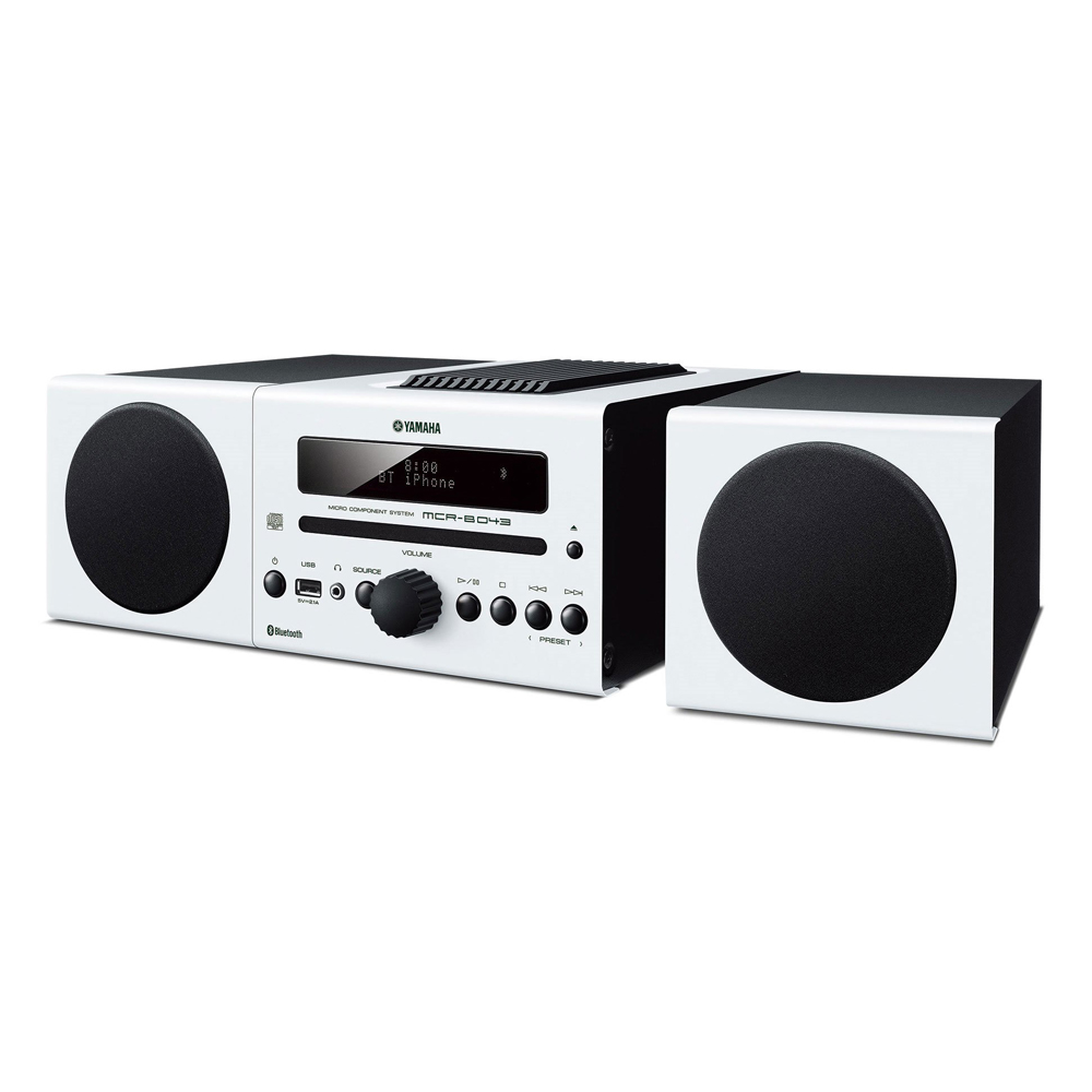 Yamaha MCR-B043WH White Micro Component System