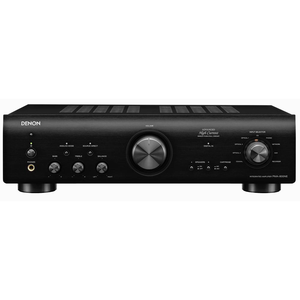 Denon PMA-800NE Black Integrated Amplifier with 85W Power/Channel