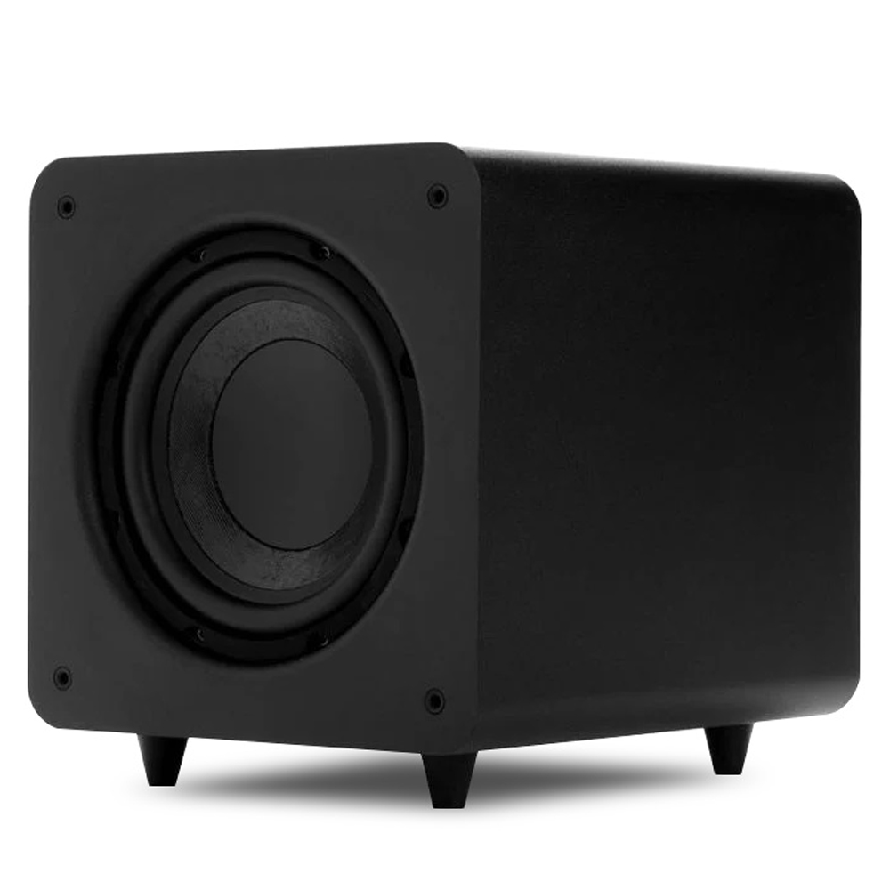 Polk Audio PSW111 Black 8Inch 300 Watt Compact Powered Subwoofer System