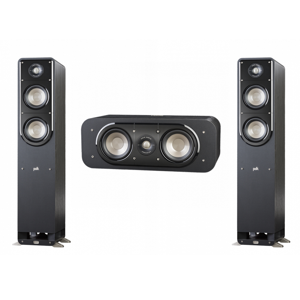 Polk Audio Signature 3.0 System with 2 S50 Tower Speaker, 1 Polk S30 Center Speaker