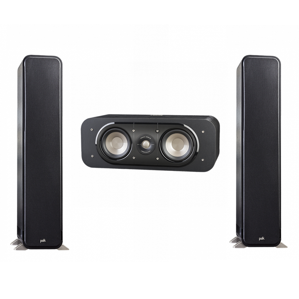 Polk Audio Signature 3.0 System with 2 S55 Tower Speaker, 1 Polk S30 Center Speaker