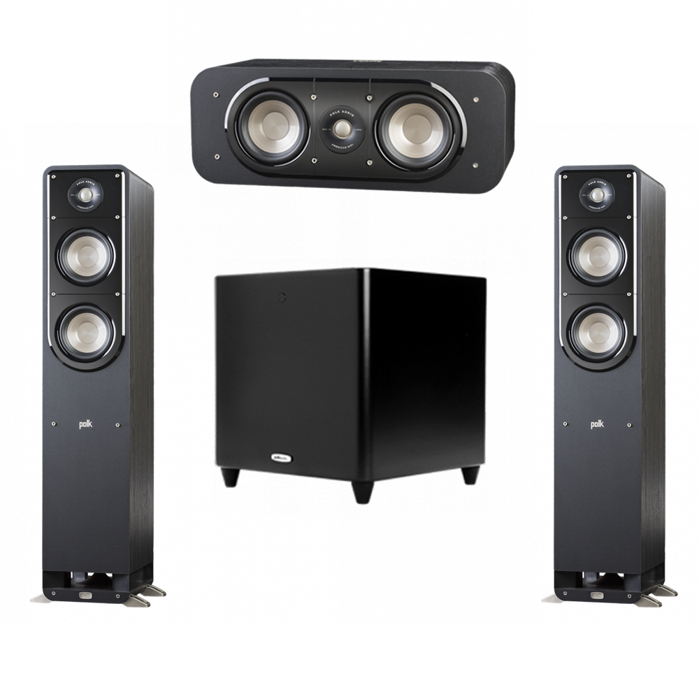Polk Audio Signature 3.1 System with 2 S50 Tower Speaker, 1 Polk S30 Center Speaker, 1 Polk DSW PRO 660 wi Subwoofer