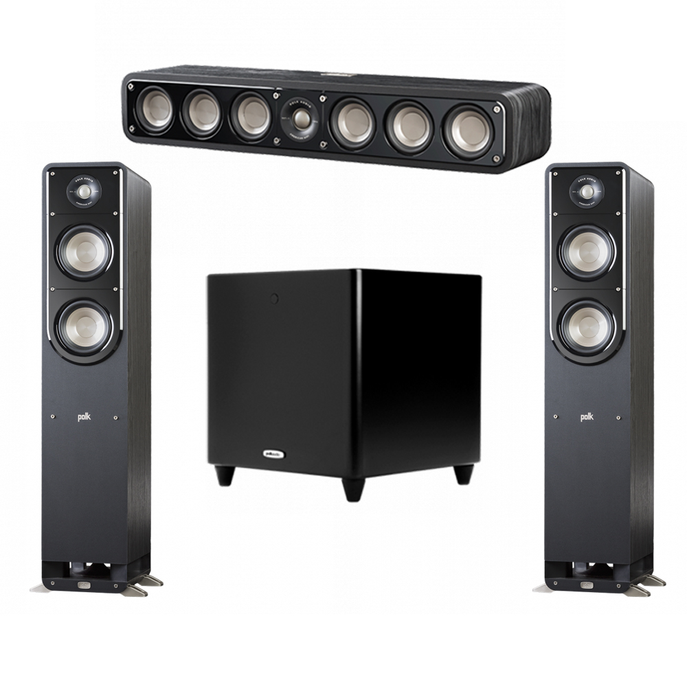 Polk Audio Signature 3.1 System with 2 S50 Tower Speaker, 1 Polk S35 Center Speaker, 1 Polk DSW PRO 550 wi Subwoofer
