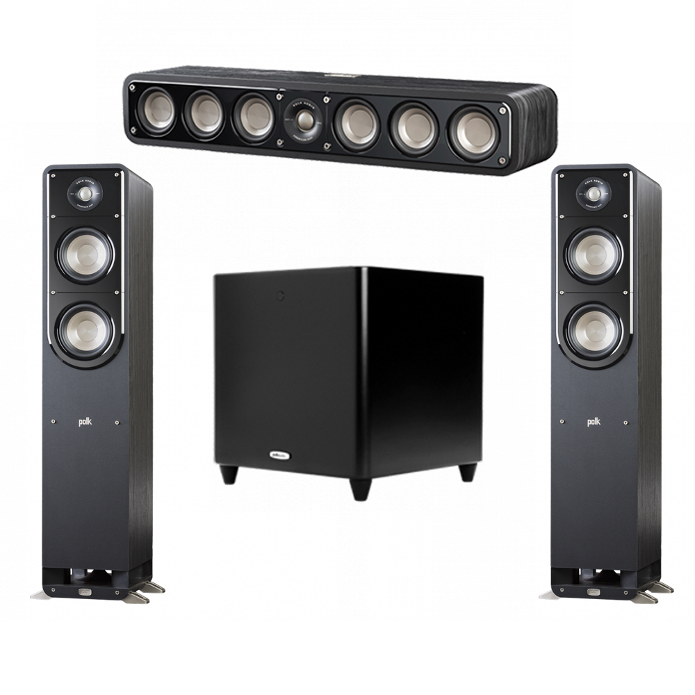 Polk Audio Signature 3.1 System with 2 S50 Tower Speaker, 1 Polk S35 Center Speaker, 1 Polk DSW PRO 660 wi Subwoofer