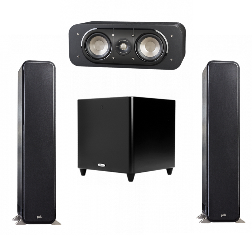Polk Audio Signature 3.1 System with 2 S55 Tower Speaker, 1 Polk S30 Center Speaker, 1 Polk DSW PRO 660 wi Subwoofer