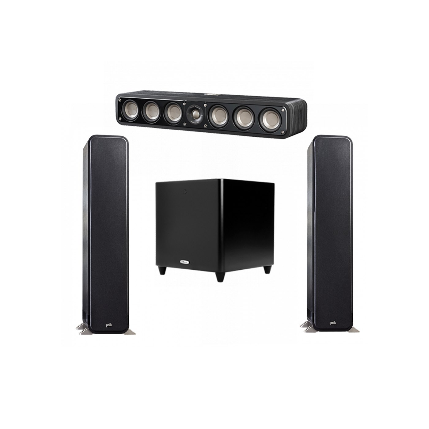 Polk Audio Signature 3.1 System with 2 S55 Tower Speaker, 1 Polk S35 Center Speaker, 1 Polk DSW PRO 660 wi Subwoofer
