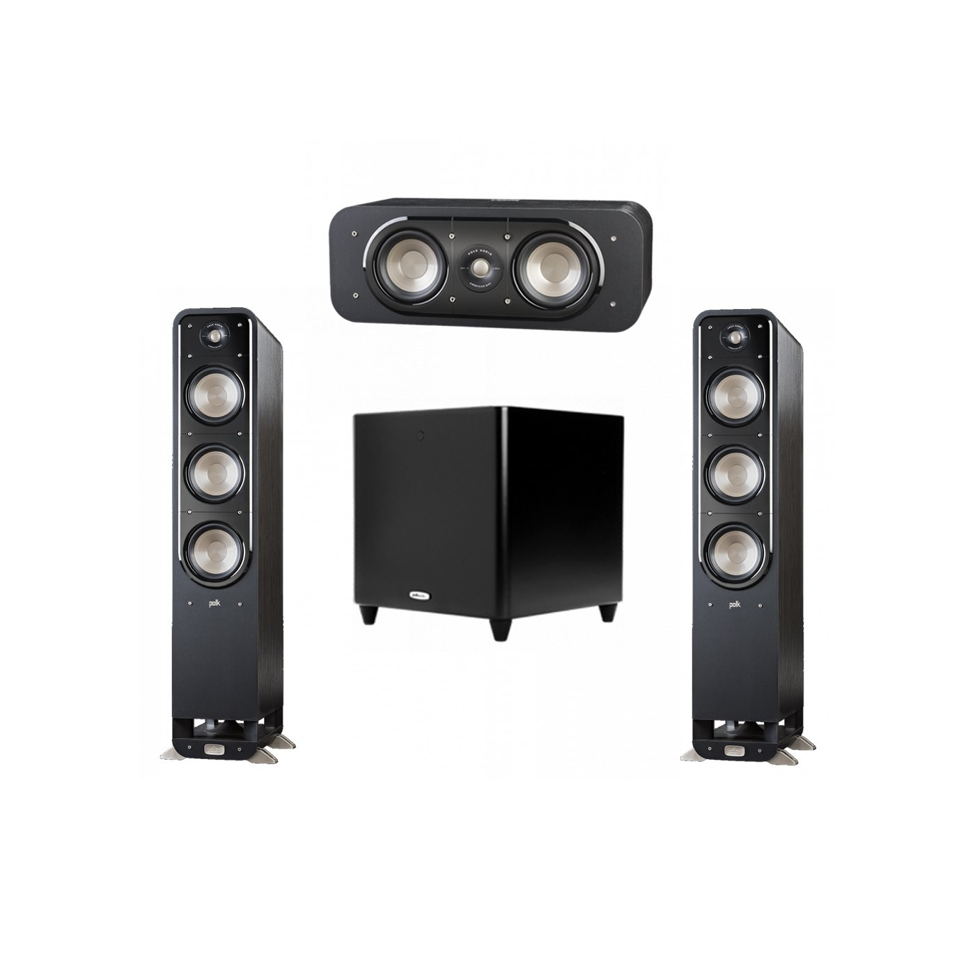Polk Audio Signature 3.1 System with 2 S60 Tower Speaker, 1 Polk S30 Center Speaker, 1 Polk DSW PRO 660 wi Subwoofer